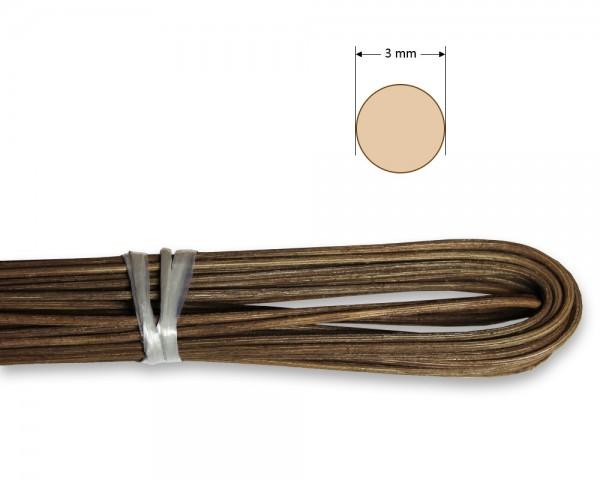 Peddigrohr rund geräuchert 3 mm