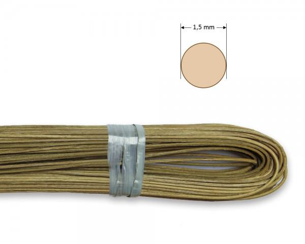 Peddigrohr rund geräuchert 1,5 mm