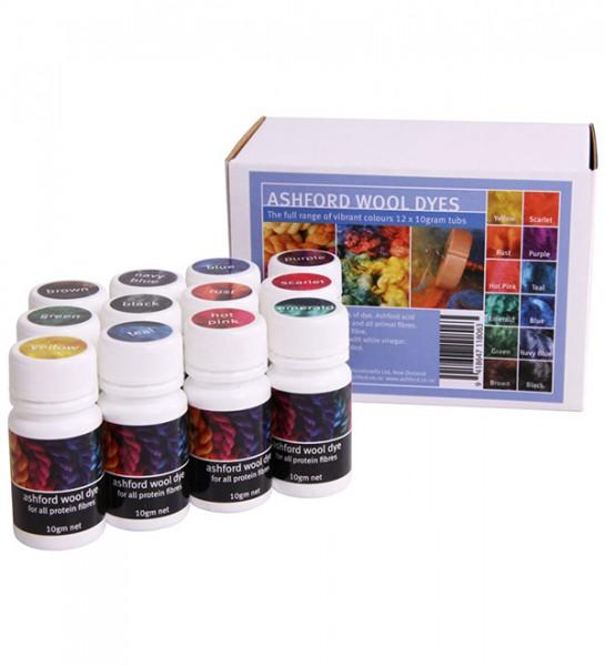 Ashford Woll-Färbeset 12 Farben