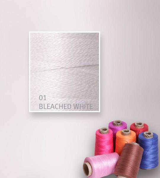 Baumwollgarn mercerisiert 5/2 - Bleached White